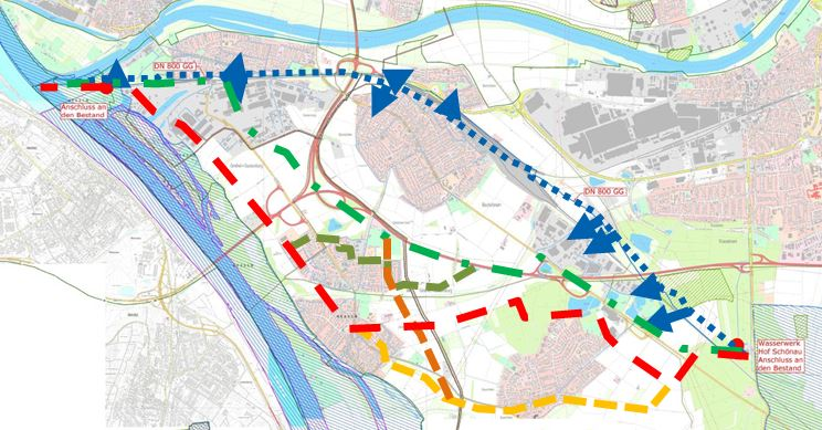 Trinkwasserleitung WW Hof Schönau